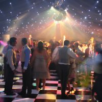 Black and White Dance Floor for Hire
