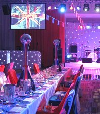 British / Union Jack Bases & Mirror Ball Table Centre