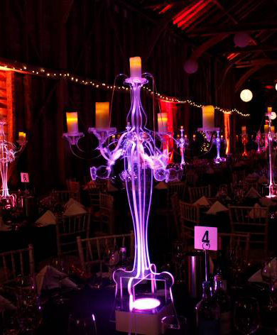 Masked Ball Candelabra Table Centre