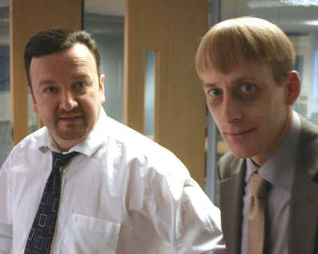 "David Brent And Gareth Keenan. The Ultimate ""BBC Office"" Duo!"