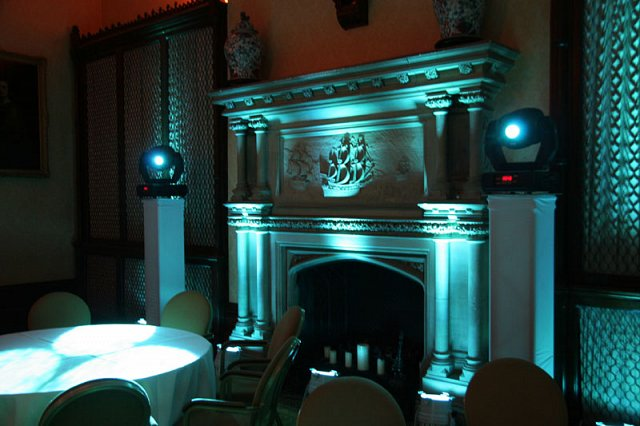 Blue Uplighters at The Elvetham Hotel