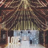 Fairy Light Canopy at Great Fosters
