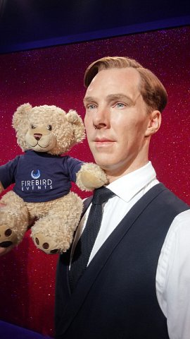 Ted with Sherlock Holmes actor Benedict!