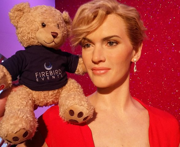 Ted with Titanic actress Kate!
