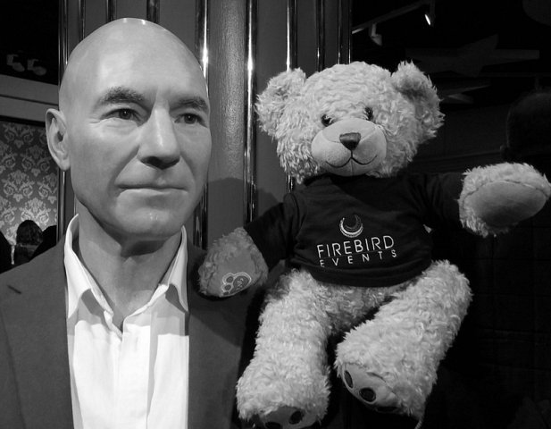 Ted with actor Patrick Stewart!