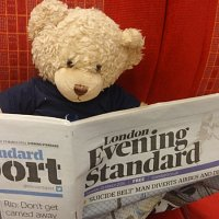 Ted on the train