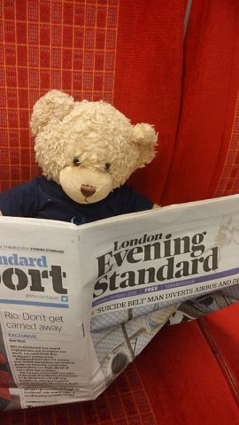 Ted on the train!