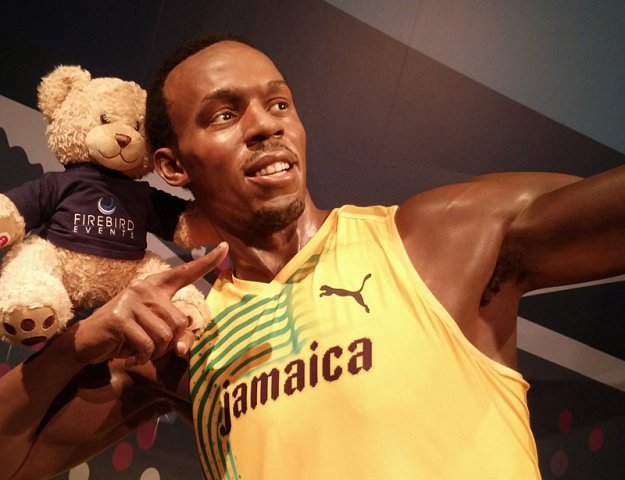 Ted with Olympian Usain Bolt!