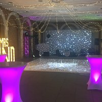 Great Fosters wedding set up