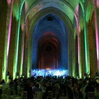 Green Uplighters at Guildford Cathedral