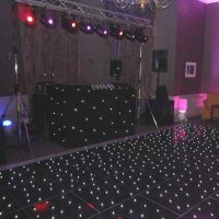 Black LED Dance Floor at Highfield Park Hotel