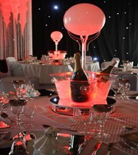 Ice Bucket with Lit Ball Table Centre
