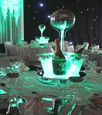 Ice Bucket with Mirror Ball Table Centre