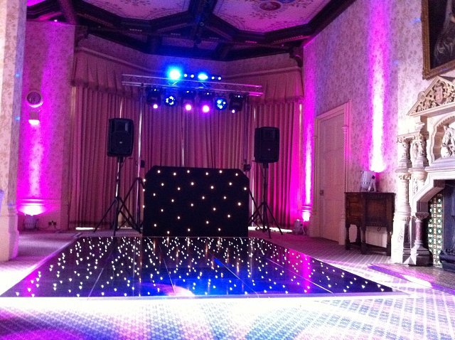 Black LED Dance Floor & Booth at The Elvetham Hotel