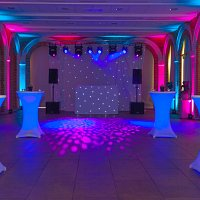 LED Poseur Tables for weddings