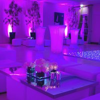 LED Poseur tables to hire