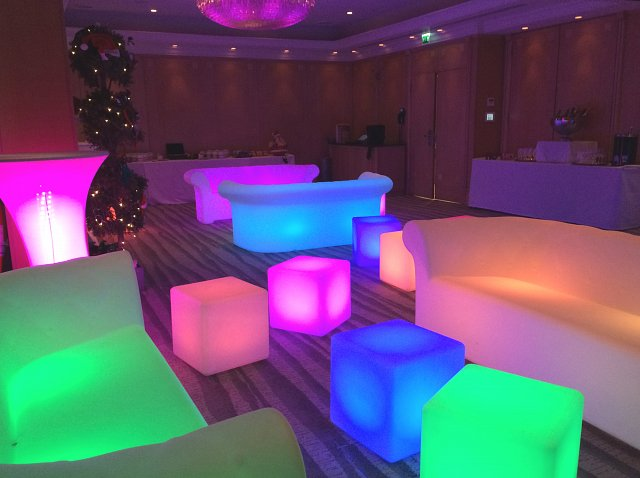 LED Sofas for Hire