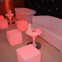 Orange LED sofas