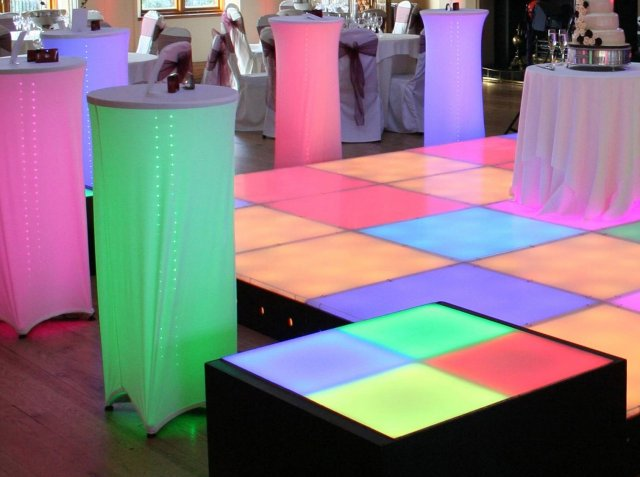 LED Dance Podiums to hire for events