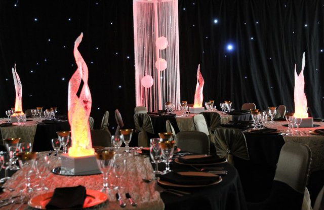 Flamed LED Table Centres for Hire