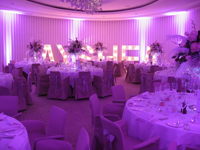 Light Up Giant Letters for events