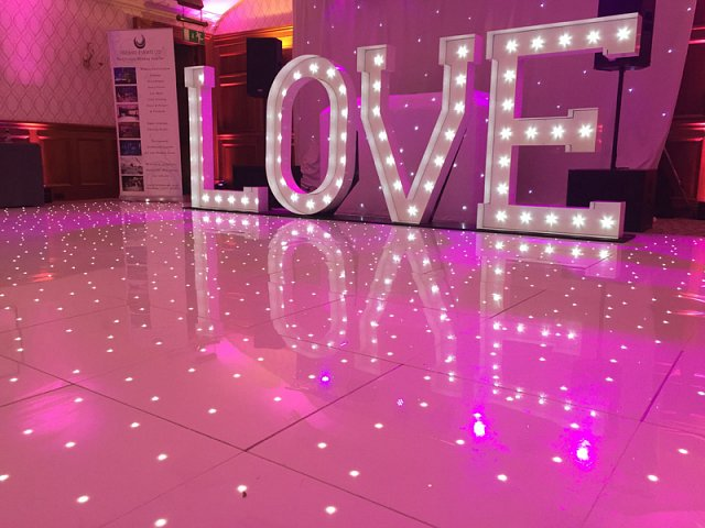 Light Up Giant Letters for hire