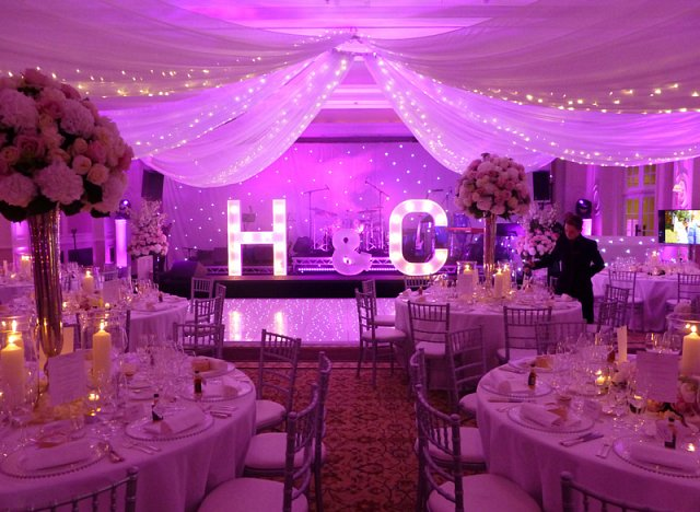 Light Up Giant Letters for hire weddings