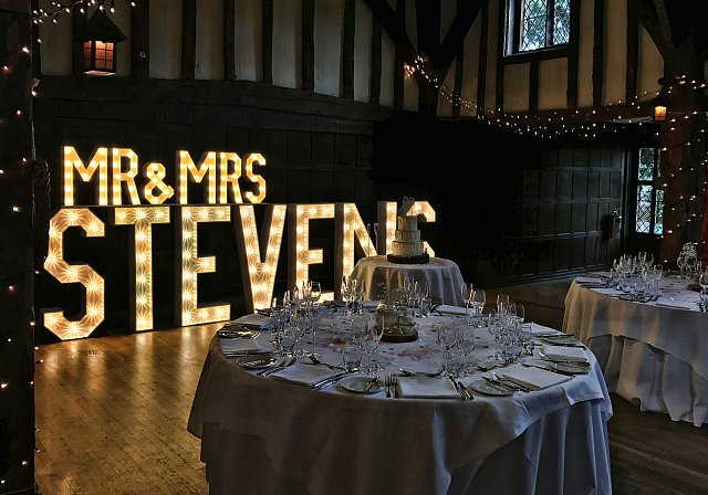 LED Letters at Great Fosters