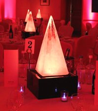 Light Up Ice Ice Pyramid Table Centre
