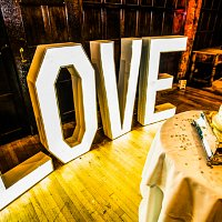 LOVE letters for weddings