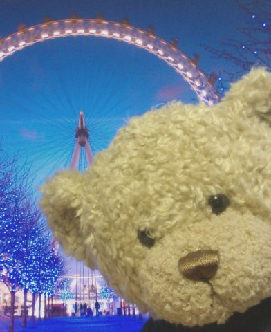 Ted at the London Eye