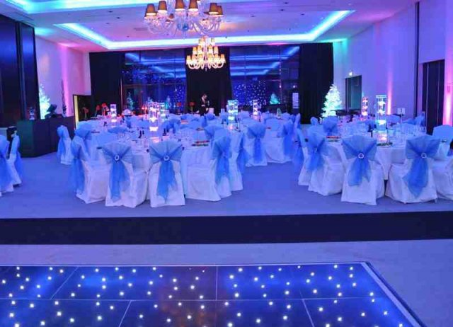 Black LED Dance Floor at London Syon Park