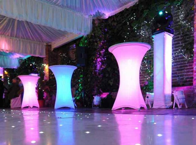 LED Poseur tables at Northbrook Park