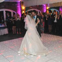 White LED Dance floor at Northbrook Park