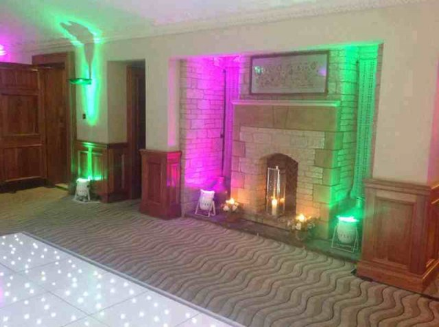 Uplighters at Pennyhill Park Hotel