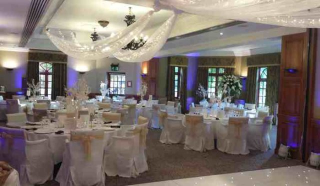 Wedding set up at Pennyhill Park