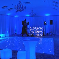 Blue Uplighters at Pennyhill Park