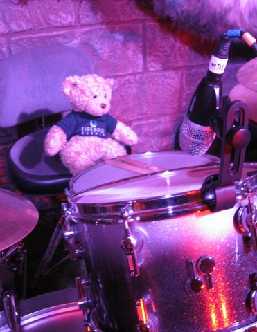 Playing the drums!