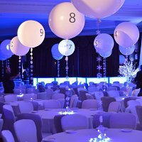 Balloon table numbers for hire