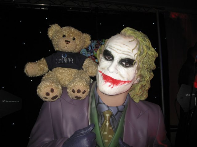 Ted with the Joker