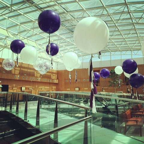 Balloon decorations at Radisson Edwardian Heathrow
