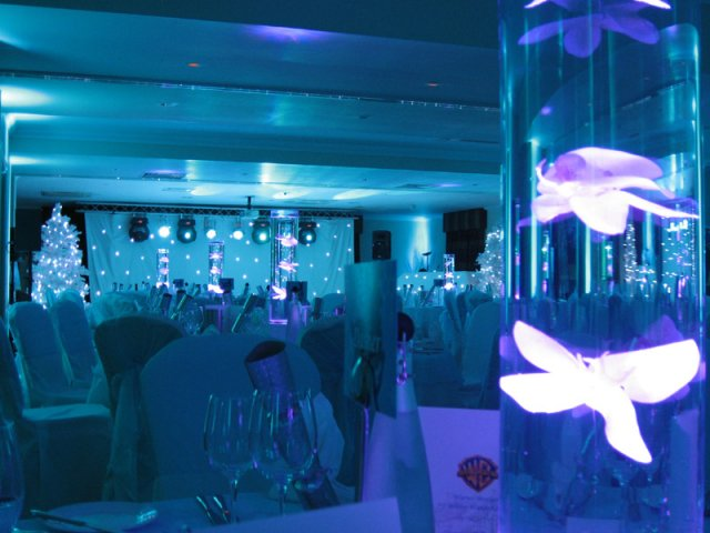LED Table Centres at Frimley Hall Hotel