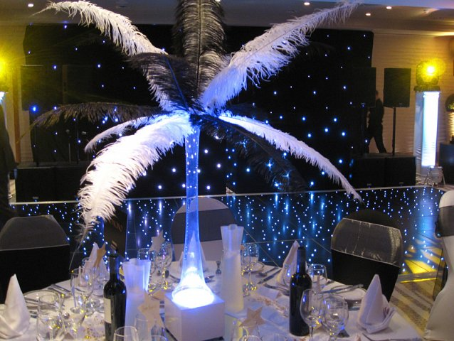 LED Table centres to hire