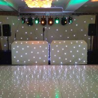 LED White Dance floor & Booth for hire