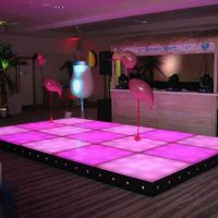 Pink LED Dance floor for hire