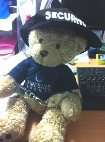 Firebird Ted under going Security Training!