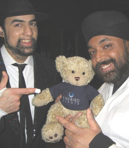 Firebird Ted with Britain's Got Talent duo Signature