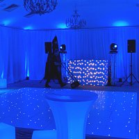 Sparkly LED dancefloor to hire