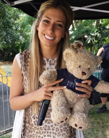 Firebird Ted with Stacey Solomon from The X Factor