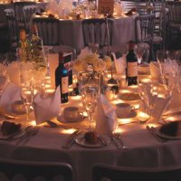 Starcloth Table Tops to hire